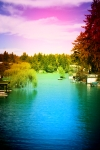 View of Lake Oswego by annaporterartist