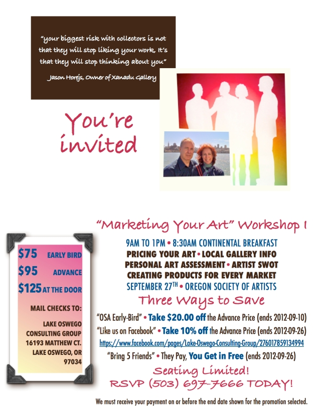 LOCG-OSA Marketing Your Art Workshop I Invitation