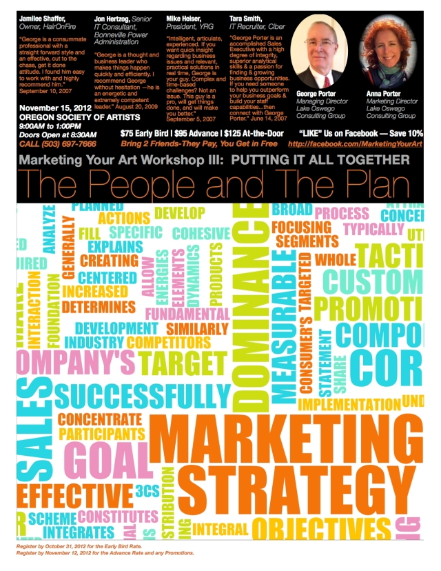 Marketing Your Art Workshop III Poster